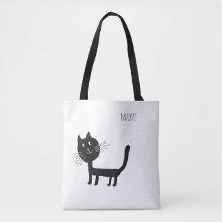 Cat Funny Miawo Tote Bag