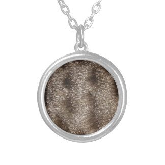 CAT FUR SILVER PLATED NECKLACE