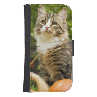 Cat Galaxy S4 Wallets
