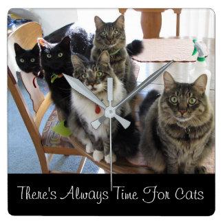 Cat Gang Wall Clock