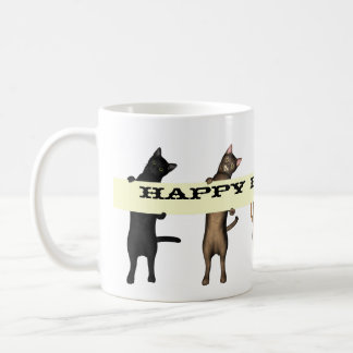 Cat Gang Wishes Happy Birthday Coffee Mug