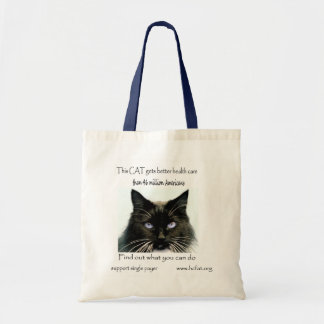 cat gets better health care 1 36 x 36 tote bag