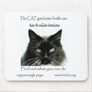 Cat gets better health care mouse pad