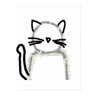 Cat Ghost Avatar Postcard