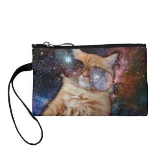Cat Glasses - sunglasses cat - cat space Coin Purse