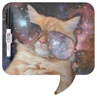 Cat Glasses - sunglasses cat - cat space Dry Erase Board