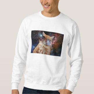 Cat Glasses - sunglasses cat - cat space Sweatshirt
