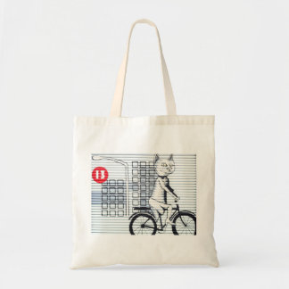 Cat grafitti tote bag