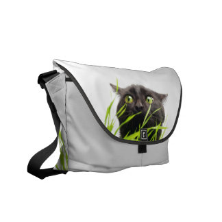 Cat & Grass. Messenger Bag