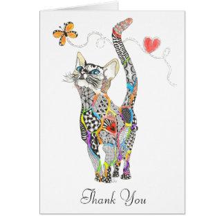 Cat Greeting Card (You can Customize)