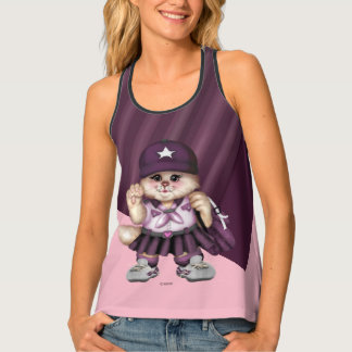 CAT GRIL SCOUT AllOver Print Racerback Tank Top