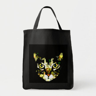 Cat Grocery Tote Black