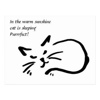 Cat haiku postcard
