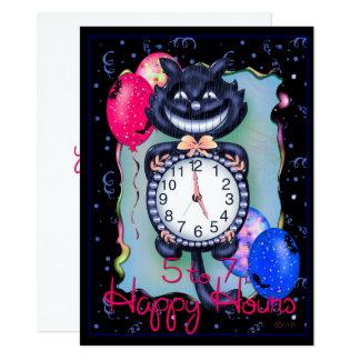 "CAT HALLOWEEN 5,5"" x 7,5"" Carton D'invitation 13,97 Cm X 19,05 Cm"