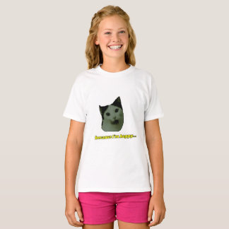 Cat Happy Face Girls T-shirt