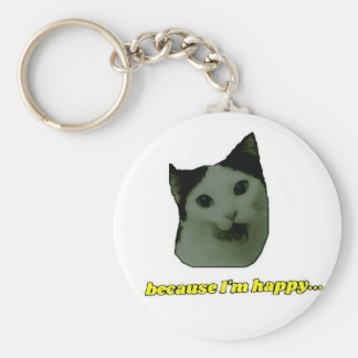 Cat Happy Face Keychain