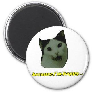 Cat Happy Face Magnet