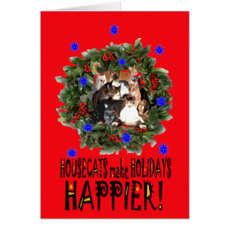 CAT HAPPY HOLIDAYS CARD