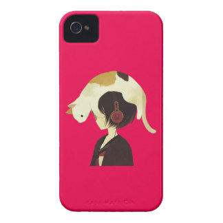 CAT HAT - Anime Child with Cat iPhone 4 Covers