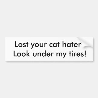 Cat hater Bumper Sticker