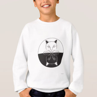 Cat Having a Drink Sweatshirt