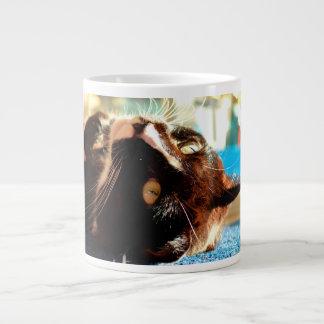 cat head in sunlight neat animal feline image jumbo mug
