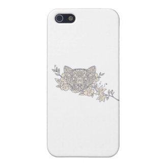 Cat Head Jasmine Flower Mandala iPhone 5/5S Case
