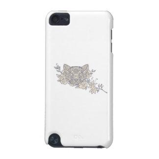 Cat Head Jasmine Flower Mandala iPod Touch 5G Cases