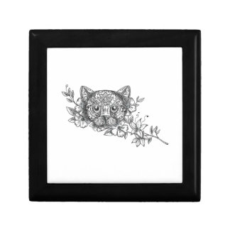 Cat Head Jasmine Flower Tattoo Gift Box