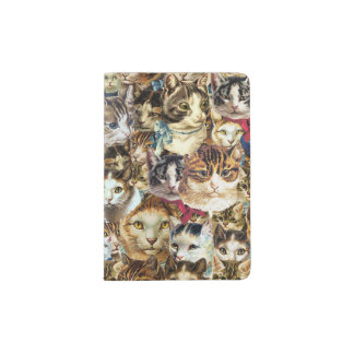 cat heads passport cover or holder