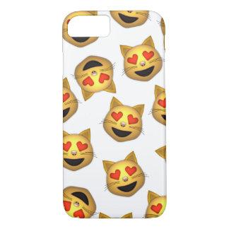 Cat Heart Eyes Emoji Clear iPhone Case