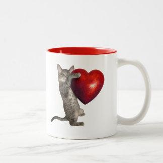 Cat Heart Mug