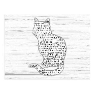 Cat Hieroglyphics Postcard