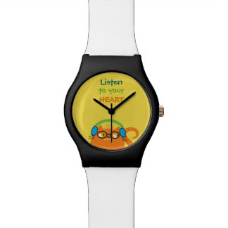 Cat Hipster Music Glasses Bright Modern Funny Cool Watch