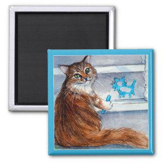 Cat hobo sign, kind lady lives here magnet