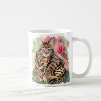 Cat hugs kitten coffee mug
