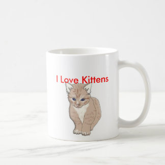 cat, I Love Kittens - Customized Coffee Mug