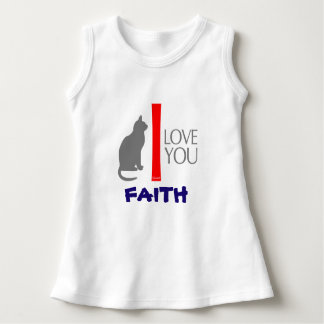 Cat + I Love You ''YOUR NAME'' Custom by VIMAGO Dress