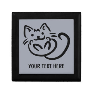 Cat Illustration custom color gift box