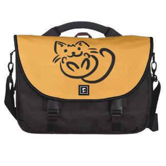 Cat Illustration custom laptop bag