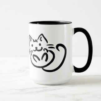 Cat Illustration custom mugs - choose style