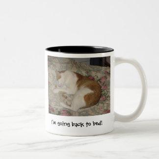 Cat I'm going back to bed! mug