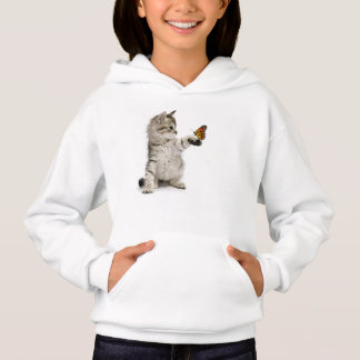 Cat image for girl's-Hoodie