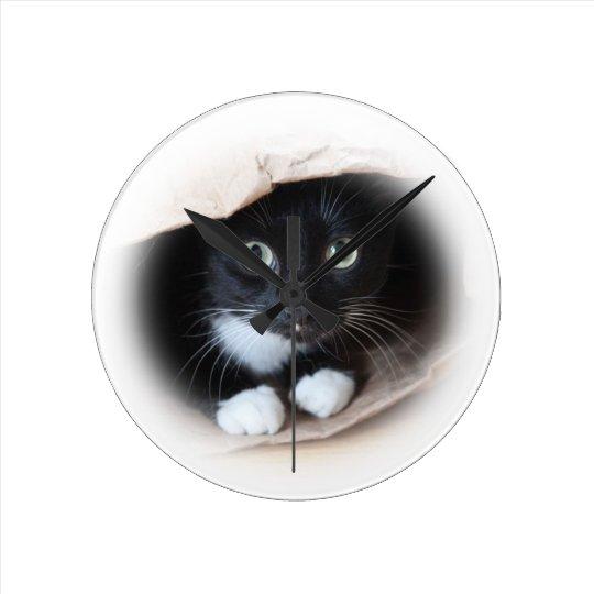 Cat in a bag clock