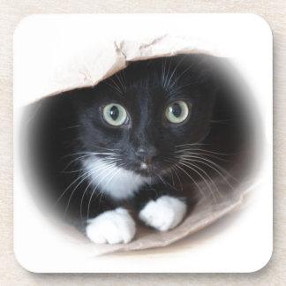 Cat in a bag coaster