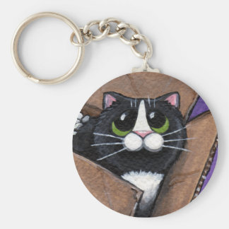 Cat in a Box Keychain