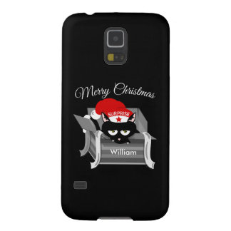 Cat in a box Merry Christmas Galaxy S5 Covers
