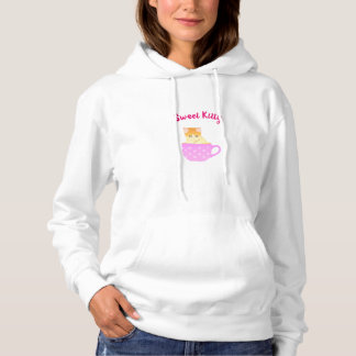 cat in a cup hoodie