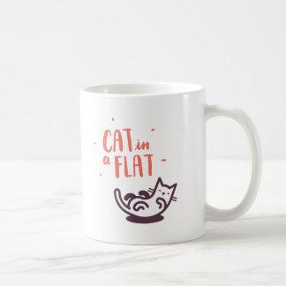Cat in a Flat Coffee Mug