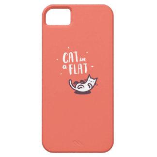Cat in a Flat iPhone 5 Cases